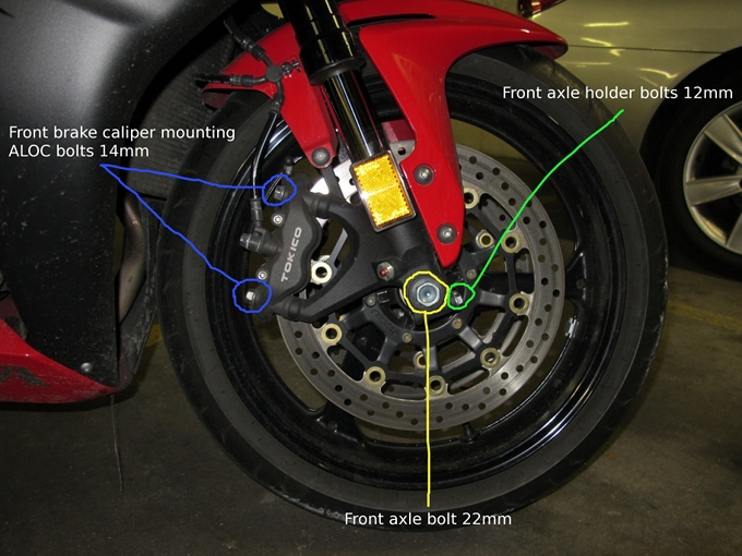 How To Remove And Re Install The Front Wheel On A 2007 2008 Honda